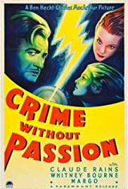Poster for Crime Without Passion (1934)