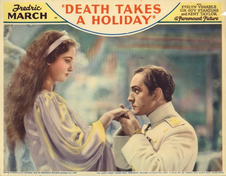 Publicity poster Death Takes a Holiday