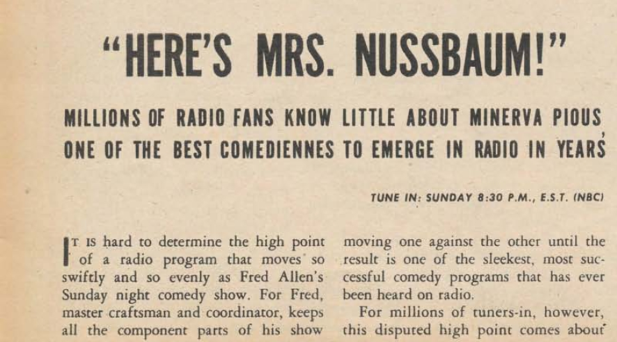 Newspaper ad for radio show