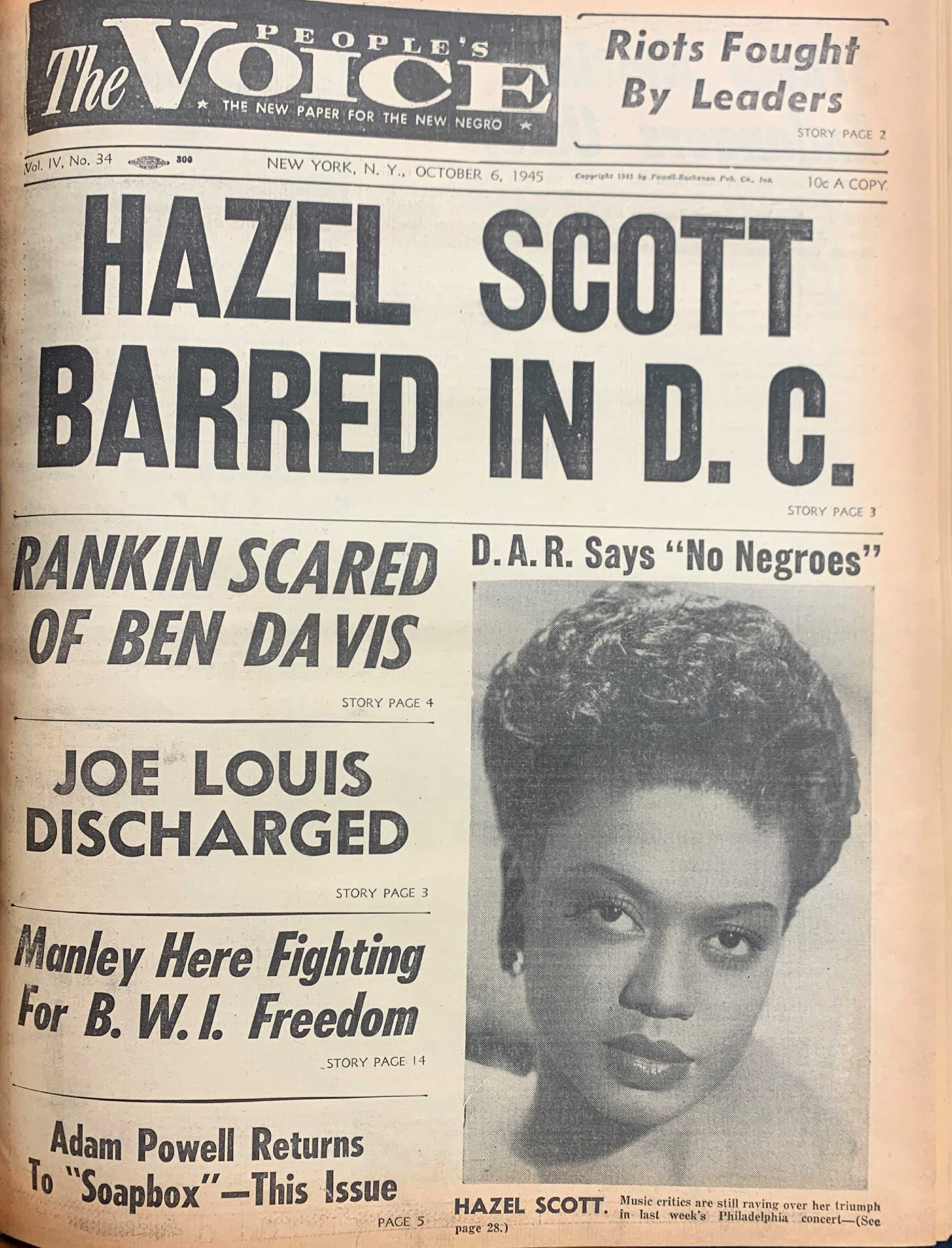 Hazel Scott The People's Voice
