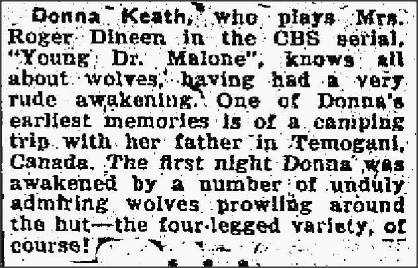 Newspaper article about Donna Keath