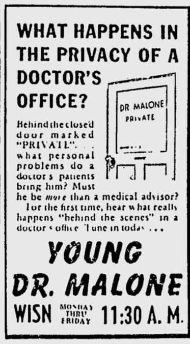 Ad for Young Dr. Malone